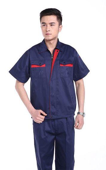 防静电蓝色短袖工
